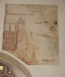 photo of the wall painting on the North wall of the Nave