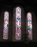 photo of one of the stain glass windows
