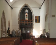 Photo of the inside of the bell tower