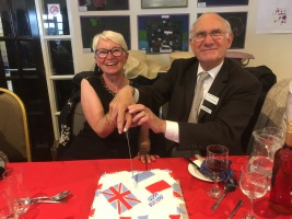 Chairman & Wimille representative cutting the specially made Union Jack cake