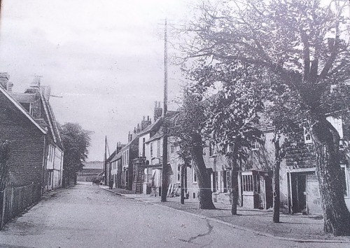 Old postcard showing High Street