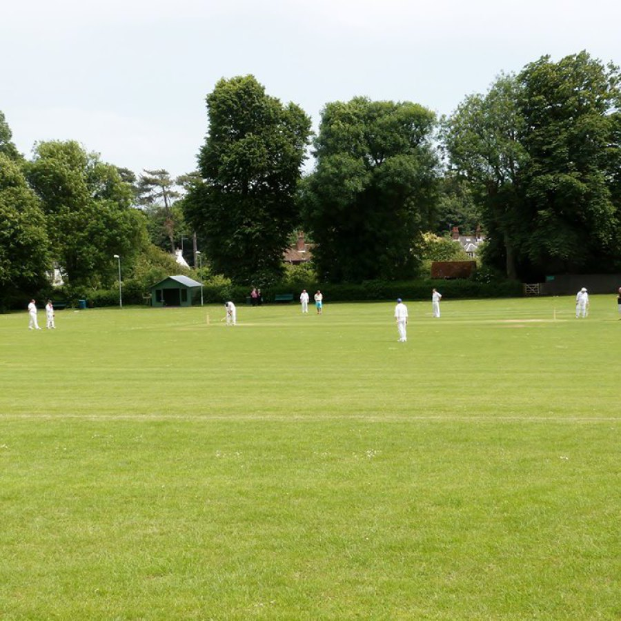 Cricket  match on Littlebourne Recreation Ground