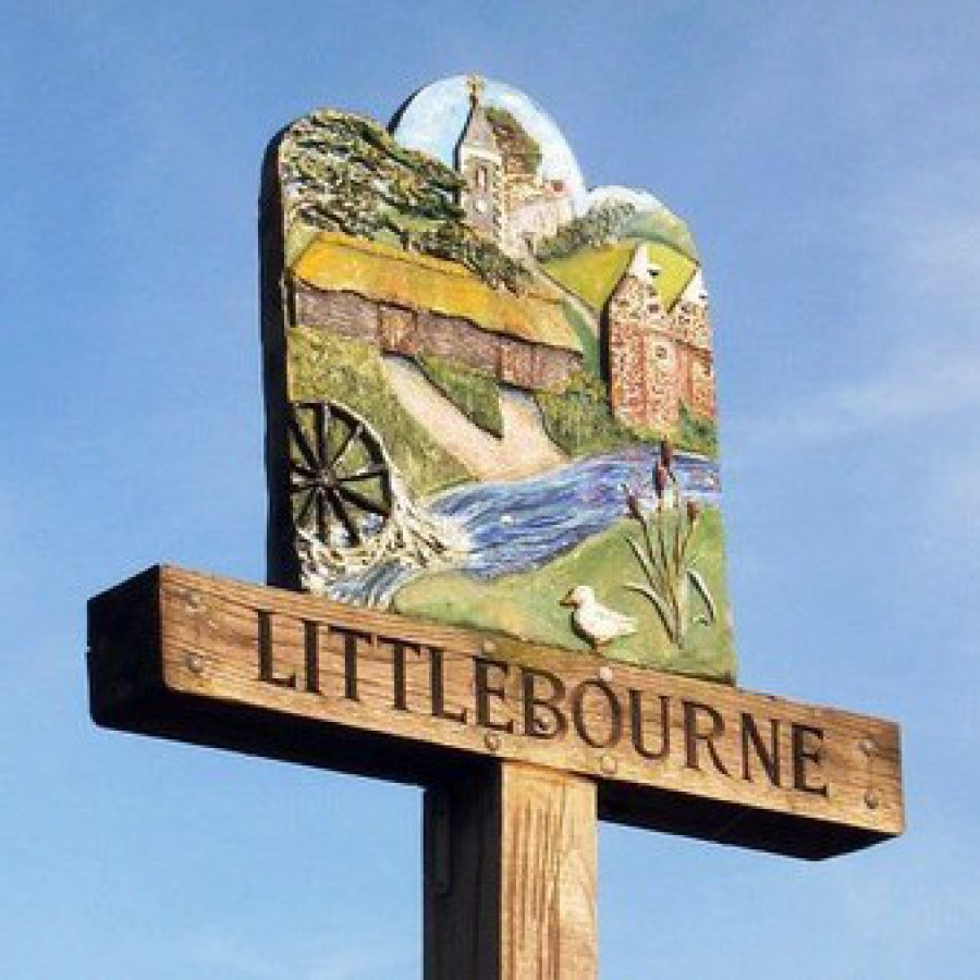Littlebourne entrance to village sign