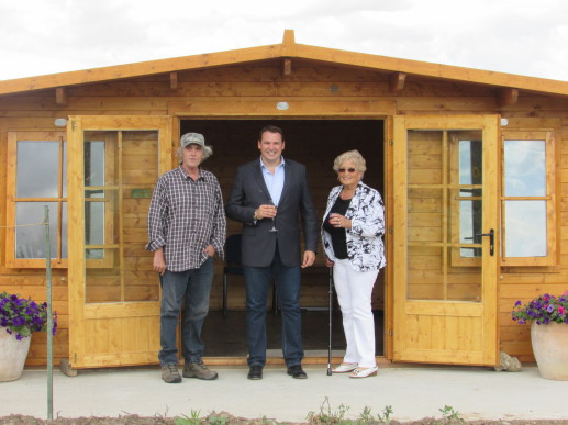 The official opening of the Cabin with Mark Quinn